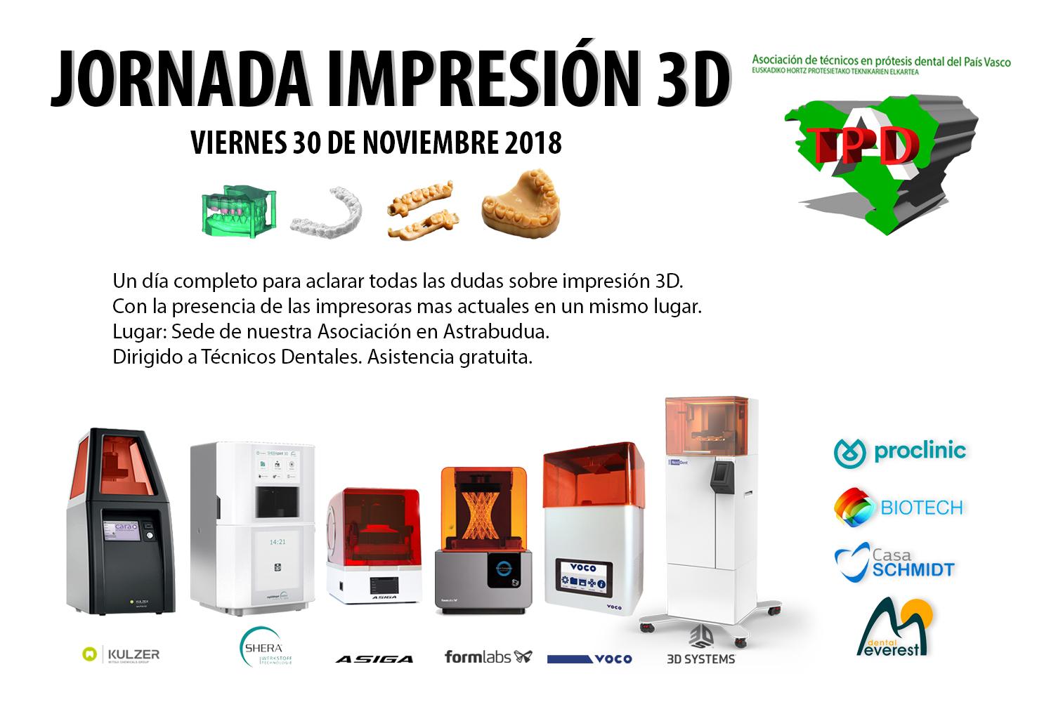 Jornada de impresión 3D 30 de Noviembre 2018