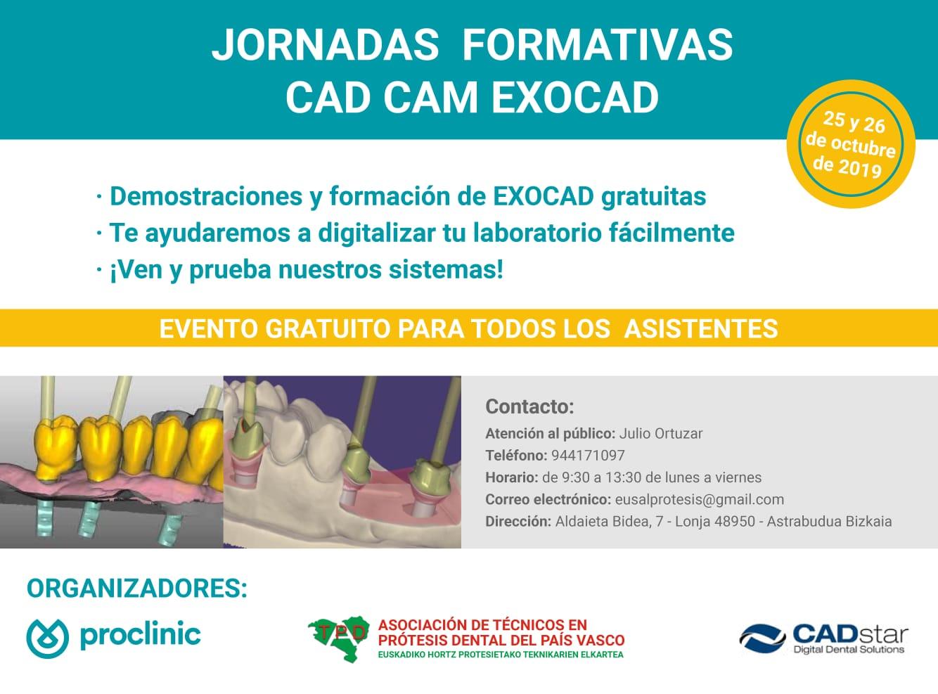 Jornada formativa CAD CAM  25 y 26 de Octubre